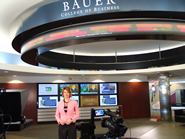 Houston's favorite TV anchor Dominique Sachse on the set at Bauer.