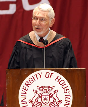Melvyn Wolff ('53), chairman of the board for Star Furniture, told graduates to find balance in their lives in order to become truly successful.