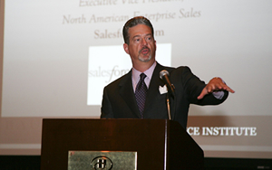 Salesforce.com Executive Vice President Gary Hanna noted the importance of giving back during his keynote speech at the 2008 PES Graduation and Induction Ceremony.