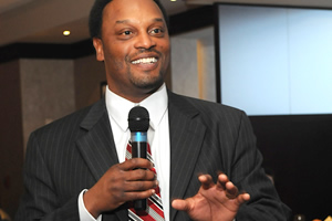 Increasing attendance at UH sporting events, along with promoting accolades such as Bauer College's #1 undergraduate entrepreneurship program ranking, will help the university reach Tier One status, head football coach Kevin Sumlin said at a Bauer Alumni Association breakfast.