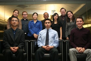 UH Bauer accounting students celebrate their scholarships with faculty from the program. Pictured are, top row from left, Jianqi Cai, Blake Bell, Zunliang Wu, Accountancy & Taxation Department Chairman Gerald Lobo, Meng Wang, Director of Accounting Programs Michael Newman, and Marina Ruseva. In the bottom row, from left, are Wei-Ling Sun, Juan Munoz and Kyle Robinson.