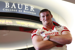 UH Bauer graduate Jake Ebner ('08) found success on the football field and in the classroom.