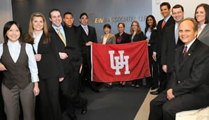 Kenny Grace ('85), far right, says the Partnership in Growth Plan is a win-win for HEIN & ASSOCIATES and UH Bauer.