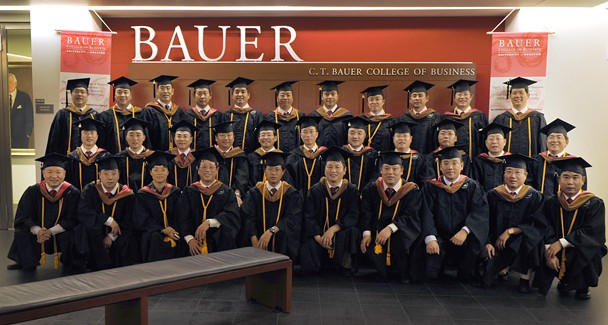 A group of employees from China National Petroleum Corporation, one of China's largest energy companies, traveled to Houston in August to finish classes at UH Bauer and receive their Global Energy Executive MBAs.