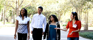 Bauer students had the opportunity during the day-long event to show high school students the UH campus.