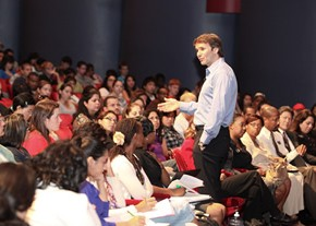 Keith Ferrazzi's motivational presentation encouraged students to be honest and vulnerable in their interactions with each other and in the workplace in order to develop meaningful relationships