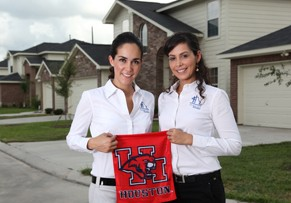For sisters Rosario, left, and Cindy Romero, helping families own a home drives business approach. Both credit the Wolff Center for Entrepreneurship at UH Bauer College for providing foundation for home building career.