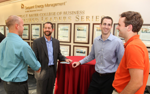 Sponsored by Sequent Energy Management, the Distinguished Leaders Series gives students the opportunity to meet with and learn from real world business experts.