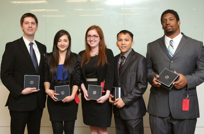 Students from the Supply Chain Management program at the C. T. Bauer College of Business