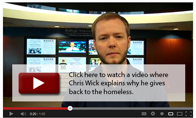 Click here to watch a video where Chris Wick explains why he gives back to the homeless.