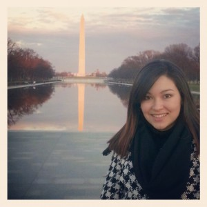 Tavera in front of the Washington Monument