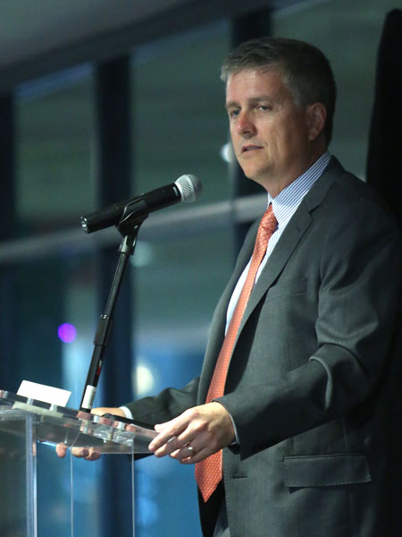 Houston Astros General Manager Jeff Luhnow spoke to Bauer alumni, students and members of the business community on how the Astros are taking a young team and developing them into champions during the April 2 BCAA Luncheon.
