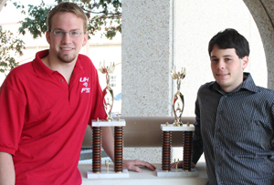 UH Bauer students Blake Gilson (left) and Ben Cohen-Kurzrock credit their Bauer College of Business courses with giving them the extra edge needed to compete and win at the 2008 Vanderbilt University National Invitational Tournament.