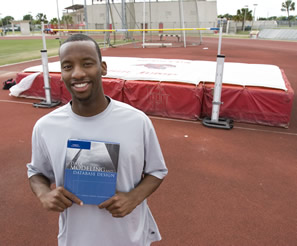 Ivan Diggs balances schoolwork with his demanding track schedule.