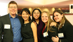 Members of Beta Alpha Psi were able to network with accounting professionals in a more relaxed environment.