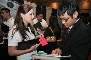 The annual Career Fair held by Rockwell Career Center connects more than 150 leading companies with students at the UH Bauer College of Business.