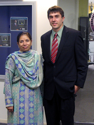 Accounting Professor Saleha Khumawala and Brian Frazier (MBA '07)