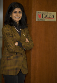 EMBA program offers flexibility says Associate Dean of Graduate and Professional Programs Latha Ramchand.