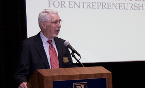 Melvyn Wolff, chairman of Star Furniture and namesake of the Wolff Center for Entrepreneurship, encouraged graduates to share their successes with future UH students.