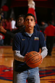 HBSA's Ernesto Manrique focuses on his free throw in the New York Life Shoot Out.