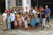 UH students visit an orphanage in a remote part of Vietnam.
