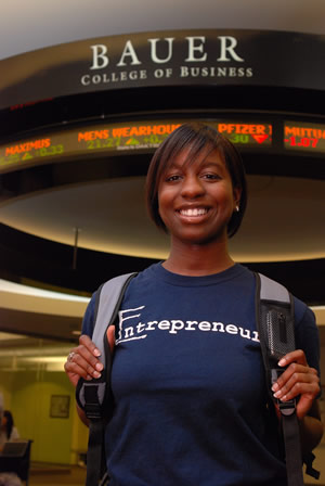 Entrepreneurship spells opportunity for entrepreneurship and finance student Ashley Sutton.