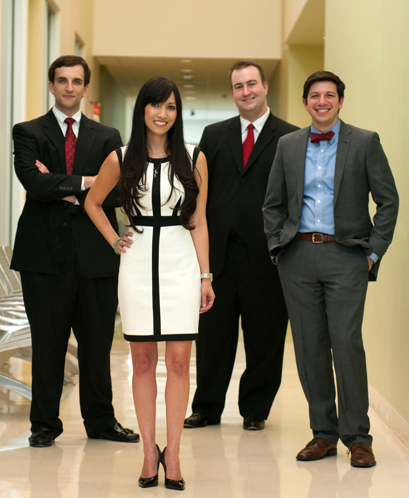 A team of four Bauer MBA students, including (left to right) James McLellan, Heather Nguyen, Jason Ruth and Adam Jalfon, are the Americas champions for the 2013 Google Online Marketing Challenge for their campaign for the Children's Museum of Houston.