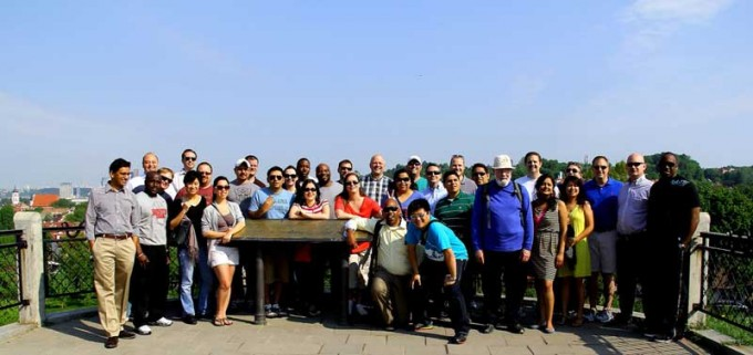 41 Executive MBA students from the C. T. Bauer College of Business at the University of Houston, traveled to Lithuania as part of the International Business Residency course.
