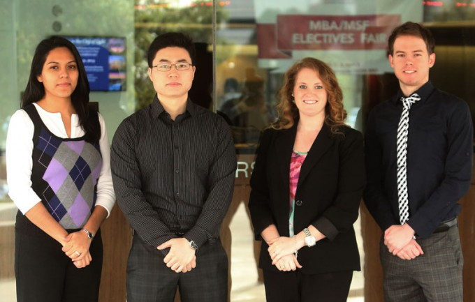 Partnering with Urban Outreach Inc., an organization that is working to transform the Houston community through a range of targeted programming, Eymi Watson-Evans, Luyao Ding, Jessica Willis and Austin McQueen received real-world experience thanks to the MIS 4374 course.