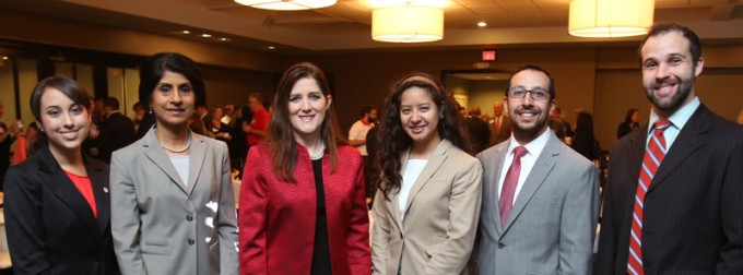 On April 17, students, alumni and the Houston business community had the opportunity to hear from NRG Texas Retail and Reliant Energy President Elizabeth Killinger (BBA '91), third from left, on how Reliant is focusing on providing customers with innovative energy solutions. See more photos.