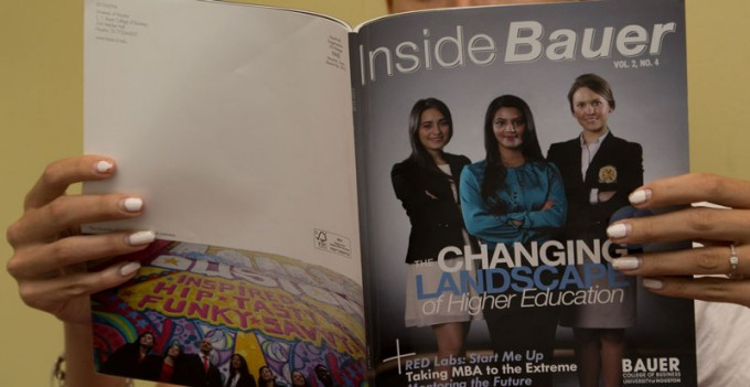 The Houston chapter of the International Association of Business Communicators has recognized the Fall/Winter 2013 issue of Inside Bauer magazine with two Bronze Quill Awards. The college's Office of Communications is in the final stages of production for the Spring/Summer 2014 issue, which will be released next month.