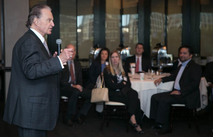 On Oct. 16, Bauer College Alumni Association hosted former Board of Regents chairman Welcome Wilson, Sr. (BBA '49), chairman of GSL Welcome Group, to discuss the history of UH and Houston's business boom at the organization's networking breakfast.