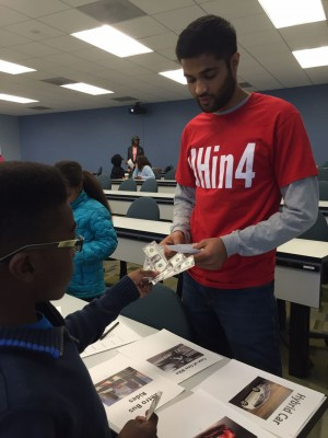 A group of fourth and fifth graders from the Greater Channel chapter of Jack and Jill of America, Inc., spent a Saturday in February on campus learning from Bauer College undergraduate students about personal finances.