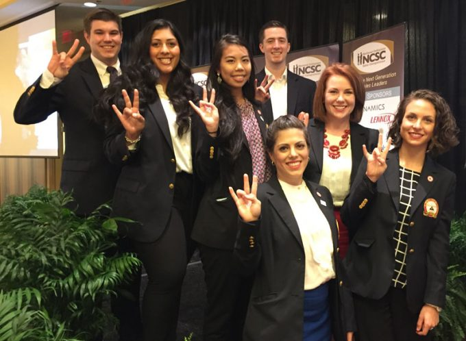 Students from the Program for Excellence in Selling claimed a top 10 team finish during the National Collegiate Sales Competition, where they competed against 67 other universities.