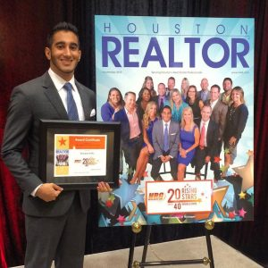 Keeyan Sabz (BBA '11) is one of the city's top young realtors, according to the Houston Association of Realtors.