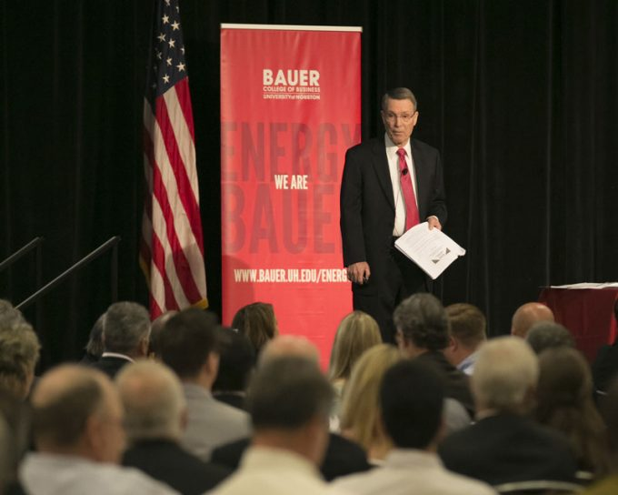 Bauer College Institute for Regional Forecasting Director Bill Gilmer gave his update on the Houston economy, and what's in store for 2017, during the fall symposium. See more photos from the event on whereawesomehappens.com.